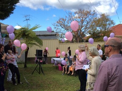 Lilly-Ann's Balloon release -